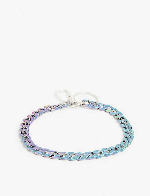 HATTON LABS Iridescent curb chain choker
