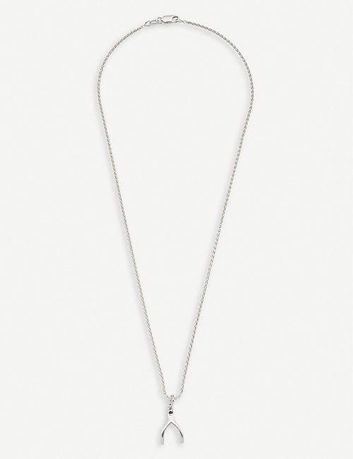HATTON LABS Sterling silver wishbone pendant necklace