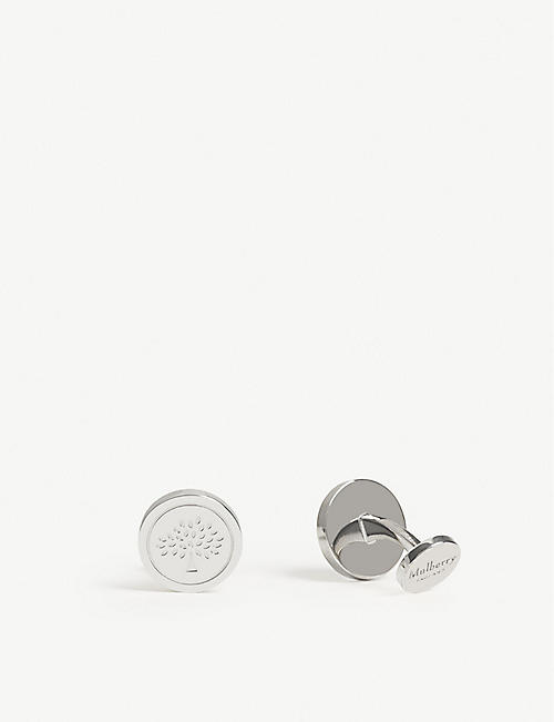 MULBERRY Round tree cufflinks