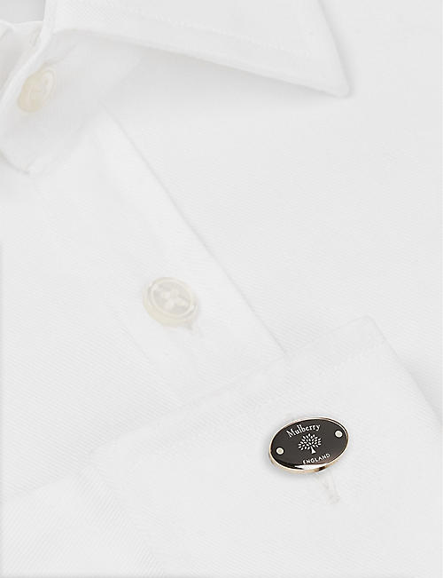 MULBERRY Tree and rivet oval cufflinks