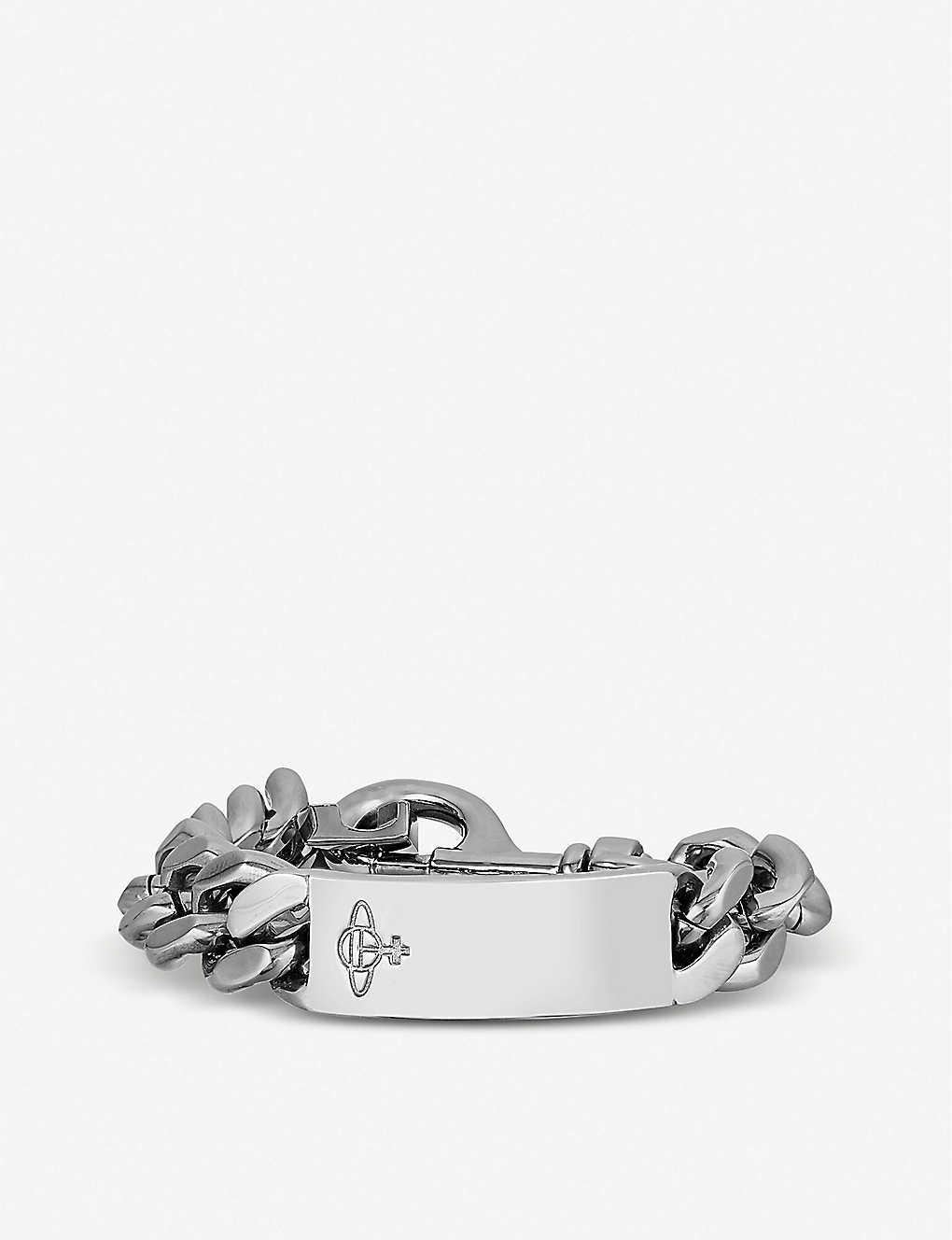7a4ba009d96 VIVIENNE WESTWOOD - Max silver-tone chain bracelet | Selfridges.com
