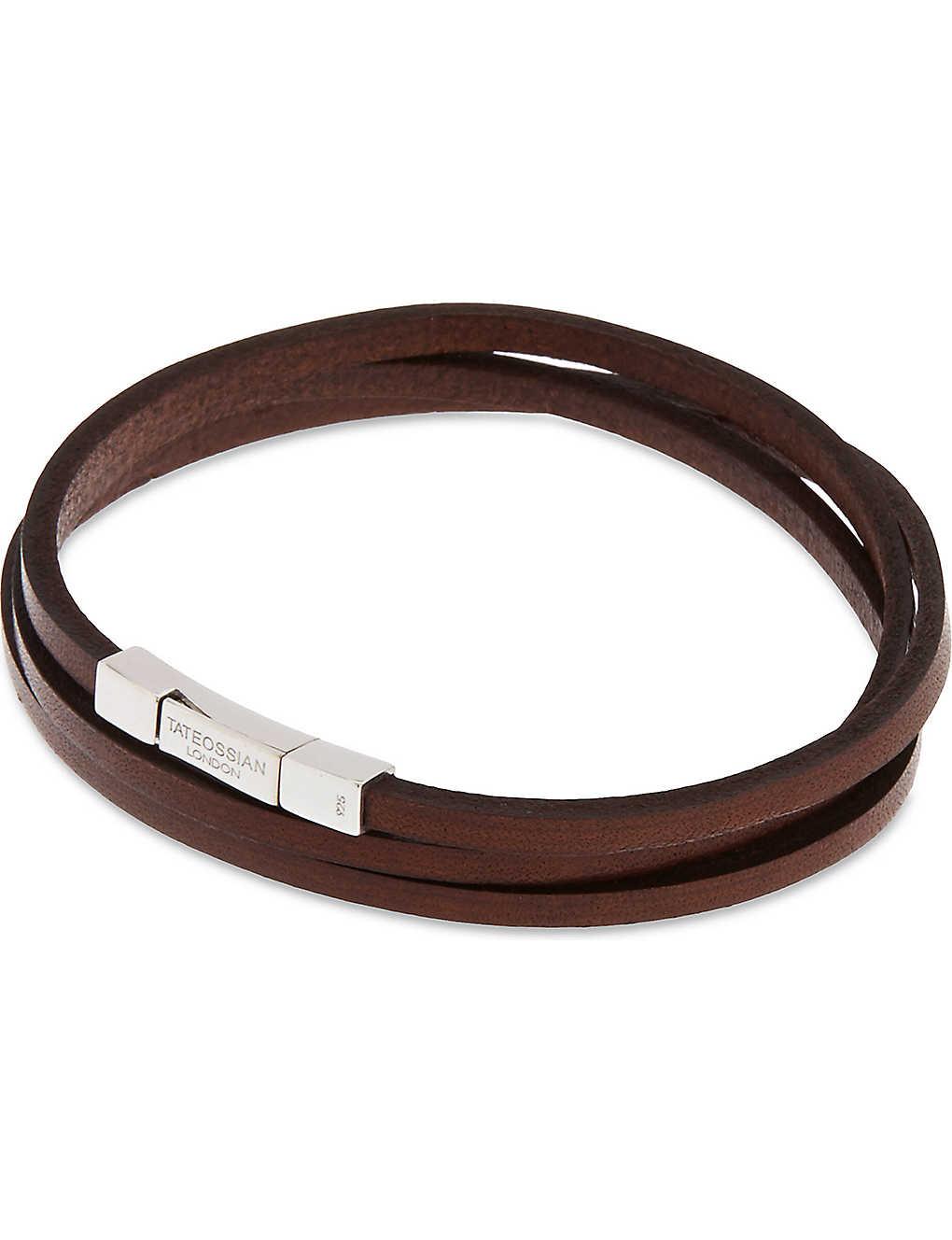 5475e3168 TATEOSSIAN - Leather double-wrap bracelet   Selfridges.com