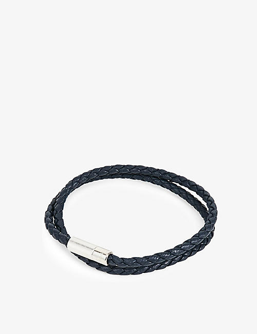 TATEOSSIAN: Pop Rigato leather and sterling silver bracelet