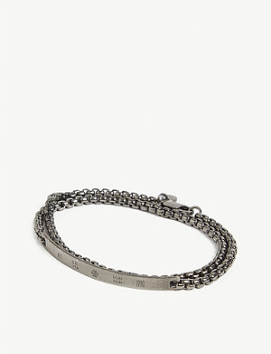 TATEOSSIAN Box chain double-wrap bracelet