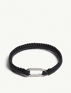 TATEOSSIAN Braided macramé leather bracelet