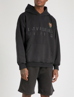 YEEZY Season 5 layered cotton-jersey hoody