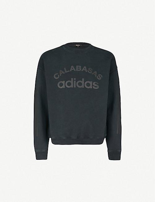 74ad02d04a098 YEEZY Yeezy x adidas Season 6 logo-print cotton-jersey sweatshirt