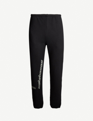 YEEZY Season 8 logo-print cotton-jersey jogging bottoms