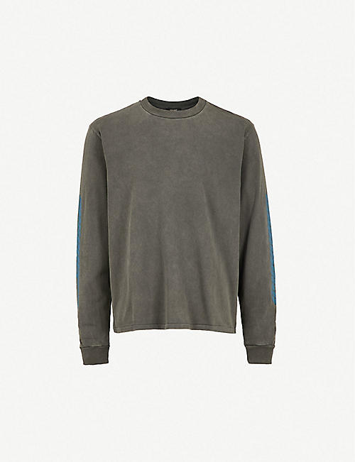 dcc1f18496cab YEEZY Season 6 Calabasas-print cotton-jersey sweatshirt