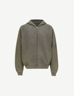 YEEZY Season 6 oversized zip-up cotton-jersey hoody