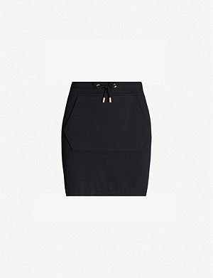 MOSCHINO 'Moschino couture' logo-back cotton-blend skirt