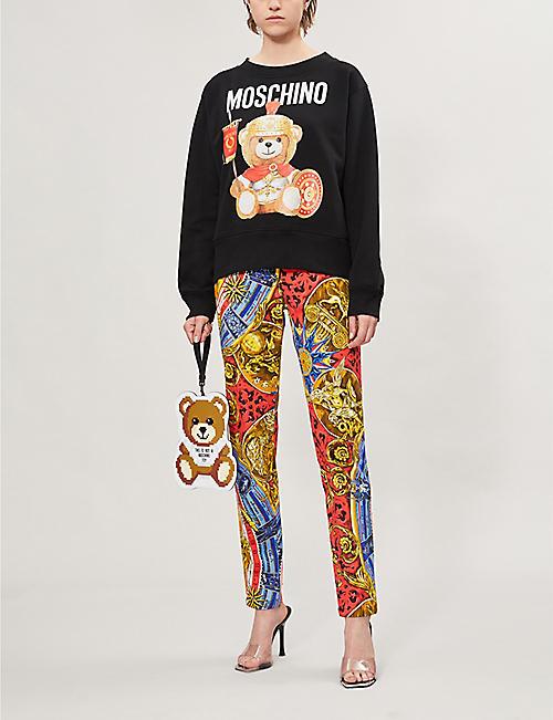 d7f30c136bc3 MOSCHINO Bear-print round-neck cotton-jersey sweatshirt
