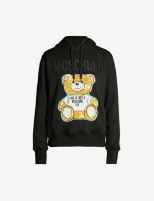 MOSCHINO Teddy-patch cotton hoody