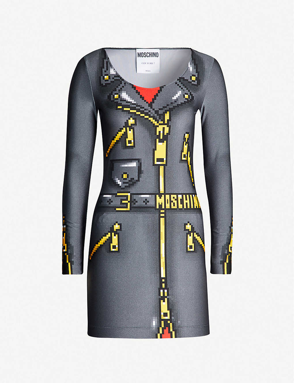 9c49de6429 MOSCHINO - Graphic-print stretch-jersey mini dress | Selfridges.com