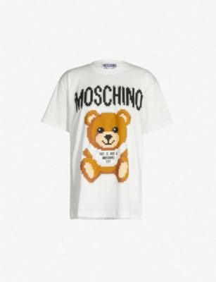 MOSCHINO Teddy logo-print cotton-jersey T-shirt