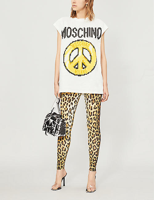 MOSCHINO Logo-print cotton-jersey T-shirt