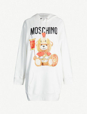 MOSCHINO Teddy-print cotton-jersey hoody