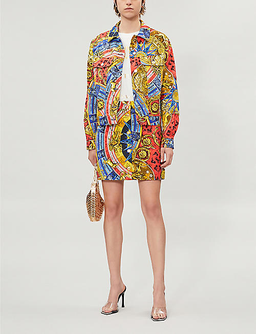 MOSCHINO Graphic-print denim jacket