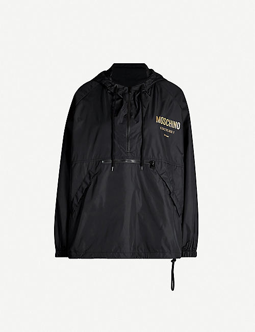 MOSCHINO Couture logo shell windbreaker jacket