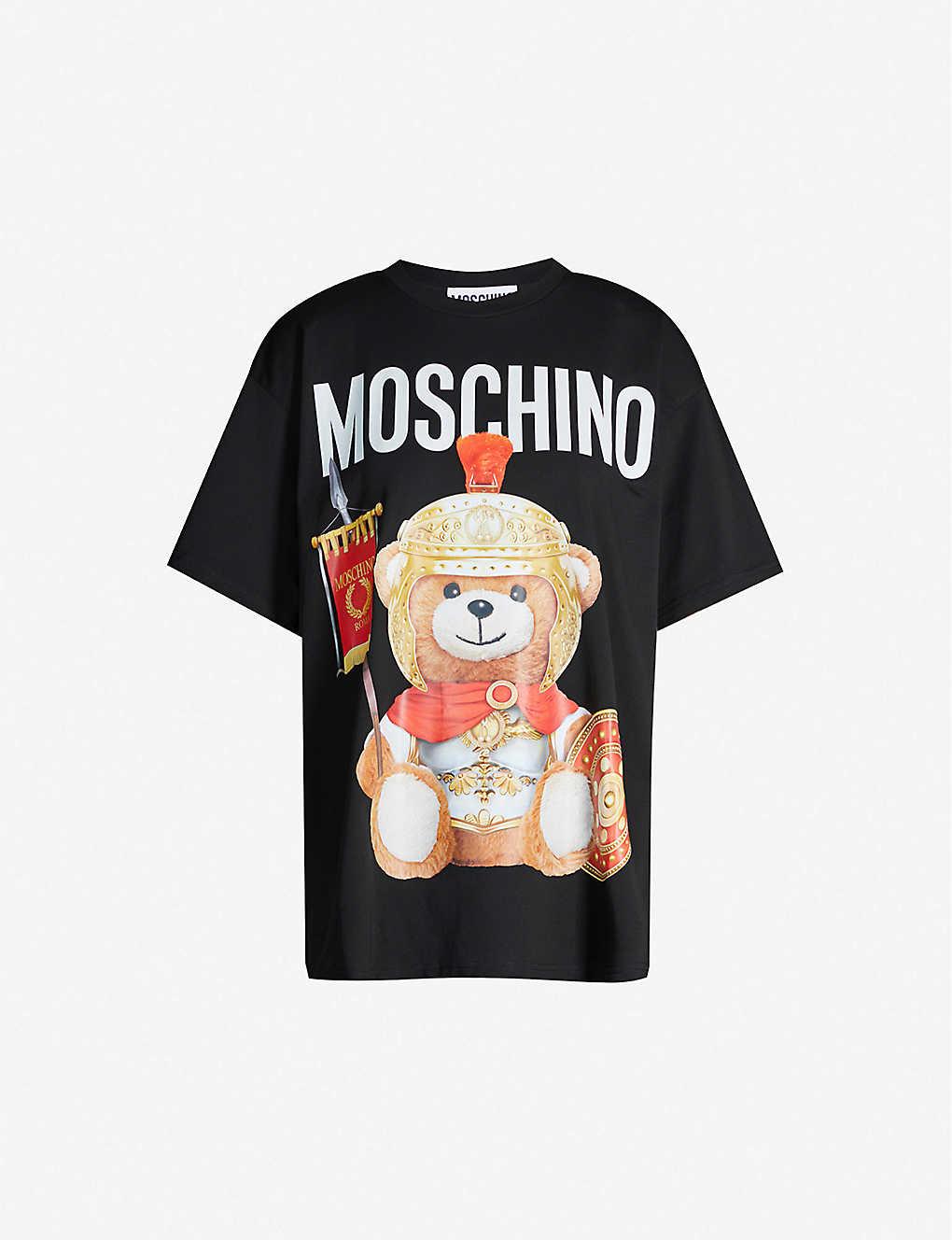 104252bd24 Bear-print cotton-jersey T-shirt
