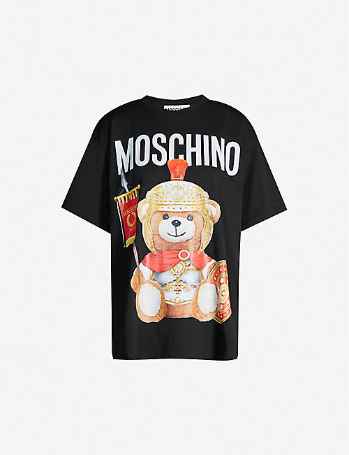 MOSCHINO Bear-print cotton-jersey T-shirt