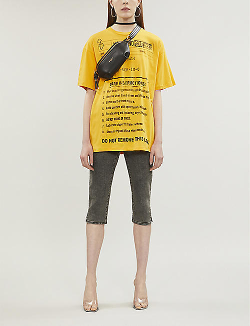 MOSCHINO Care label-print cotton-jersey T-shirt