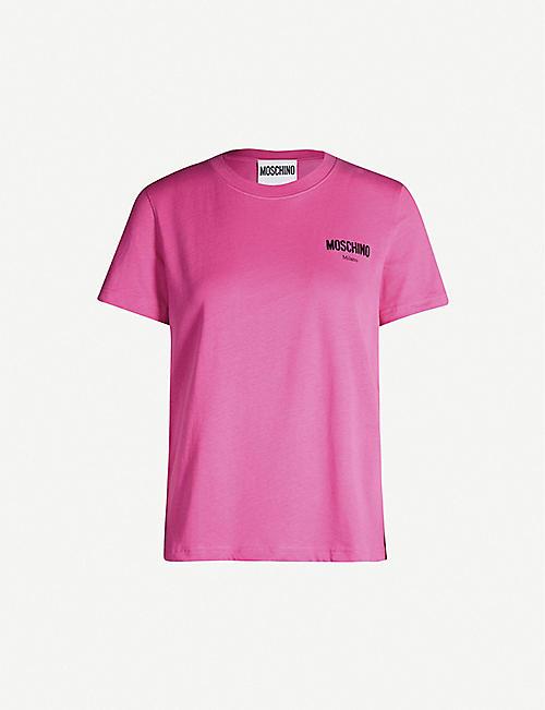 5d0081317 MOSCHINO Logo-print boxy-fit cotton-jersey T-shirt
