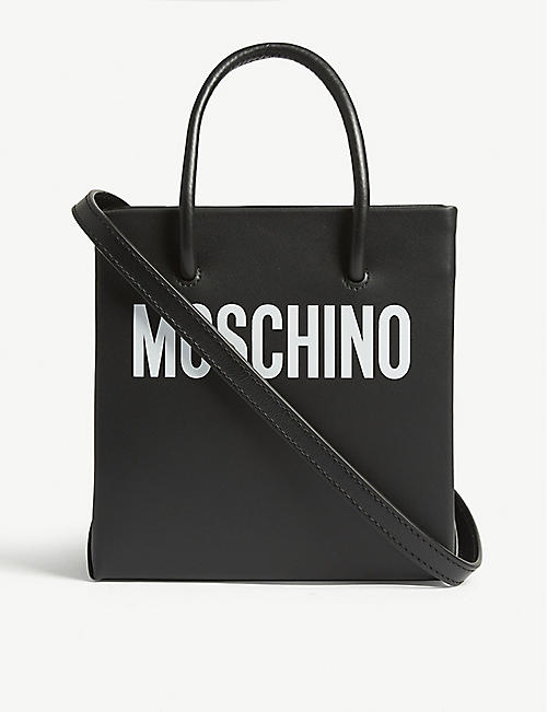 2ffdb2a4172f MOSCHINO Leather tote bag