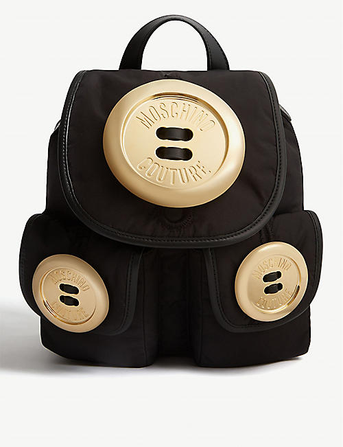 17ac5771f16f MOSCHINO Button backpack