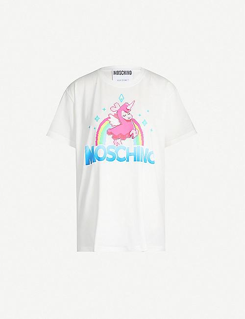 ebfca6e3661 MOSCHINO Fantasy-print cotton-jersey T-shirt