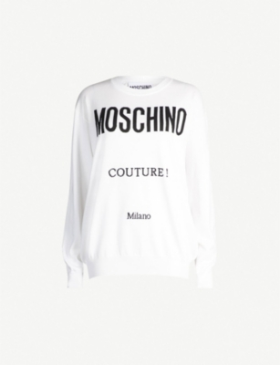 MOSCHINO Couture cotton jumper
