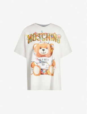 MOSCHINO Teddy-print cotton-jersey T-shirt