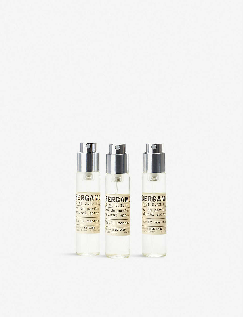 LE LABO: Bergamote 22 eau de parfum travel refill set 3 x 10ml