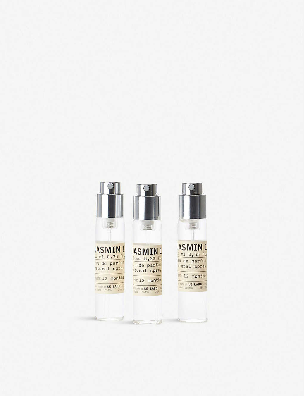 LE LABO: Jasmin 17 eau de parfum travel refill set 3 x 10ml