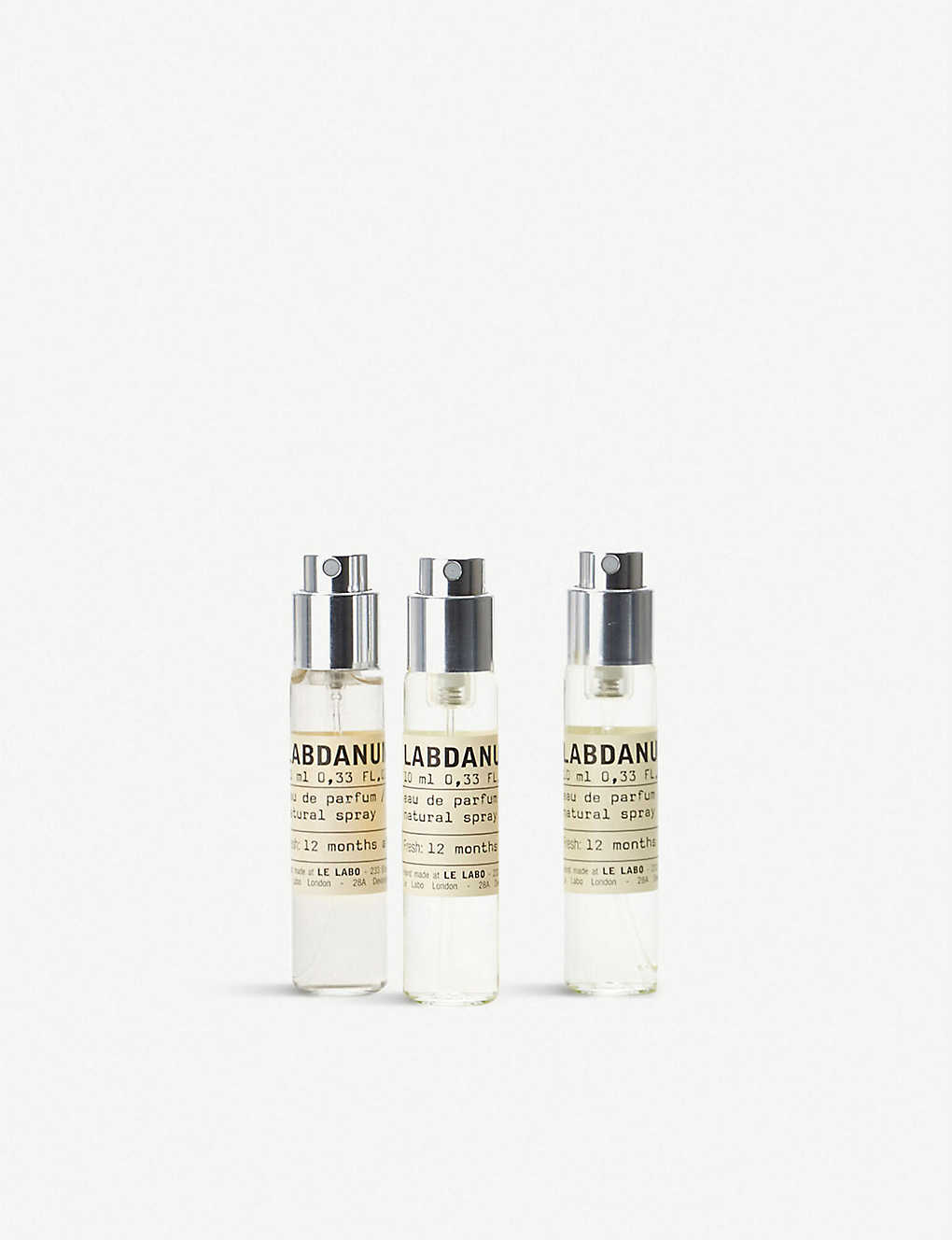 LE LABO: Labdanum 18 eau de parfum travel refill set 3 x 10ml