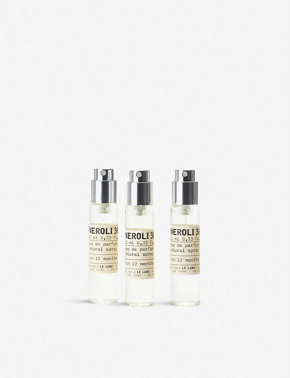 LE LABO: Neroli 36 eau de parfum travel refill set 3 x 10ml