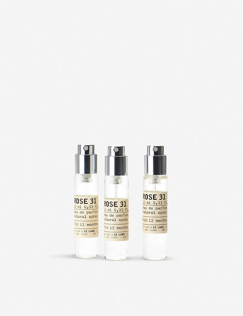LE LABO: Rose 31 Eau de Parfum Travel Tube Refills 3x10ml