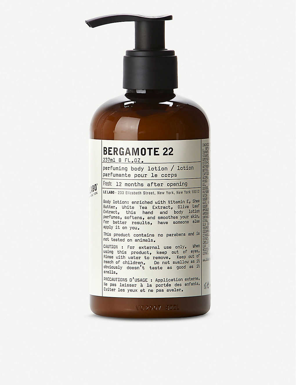 LE LABO: Bergamote 22 Body Lotion 237ml