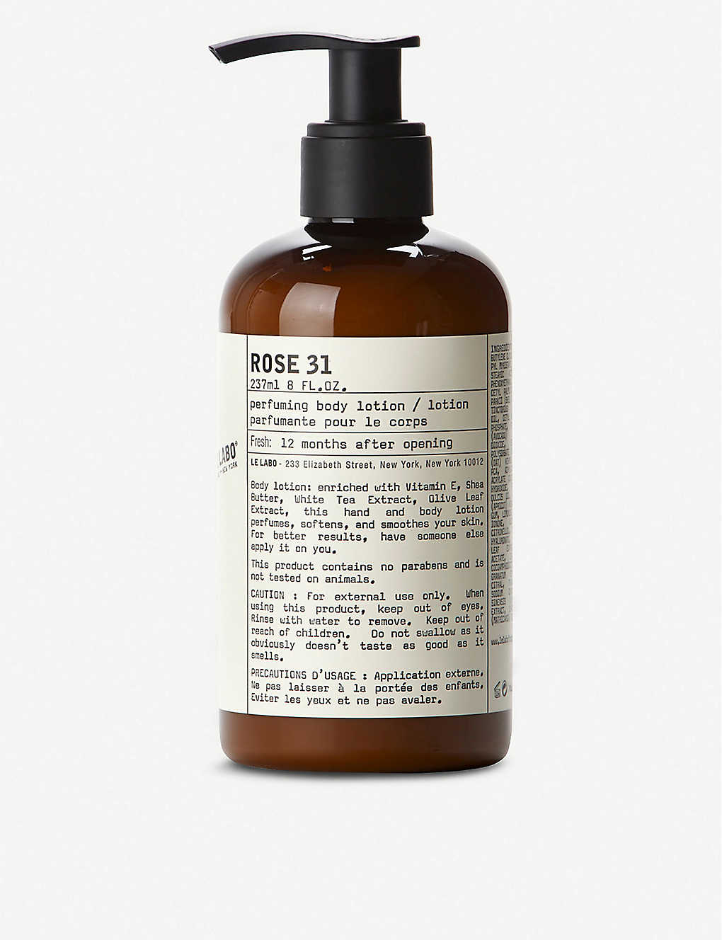 LE LABO: Rose 31 Body Lotion 237ml