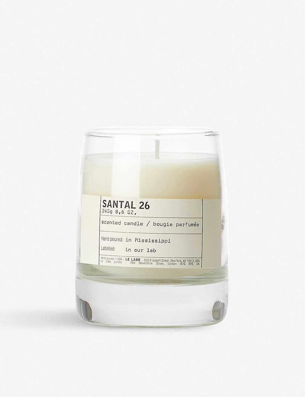 LE LABO - Santal 26 scented candle 245g | Selfridges.com