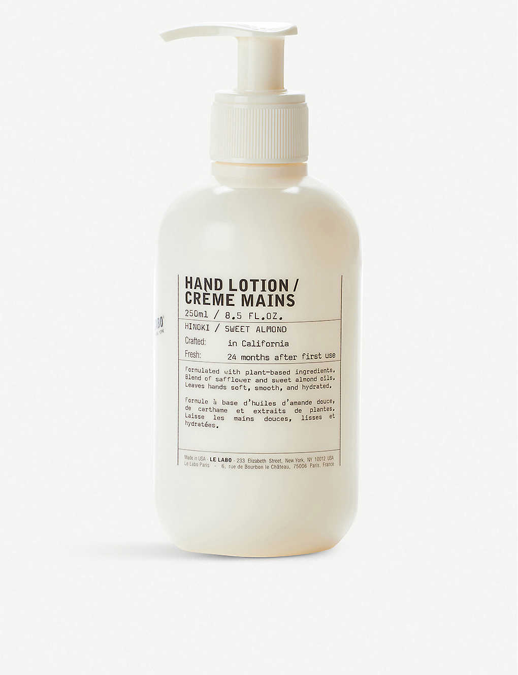 LE LABO: Hinoki hand lotion 250ml