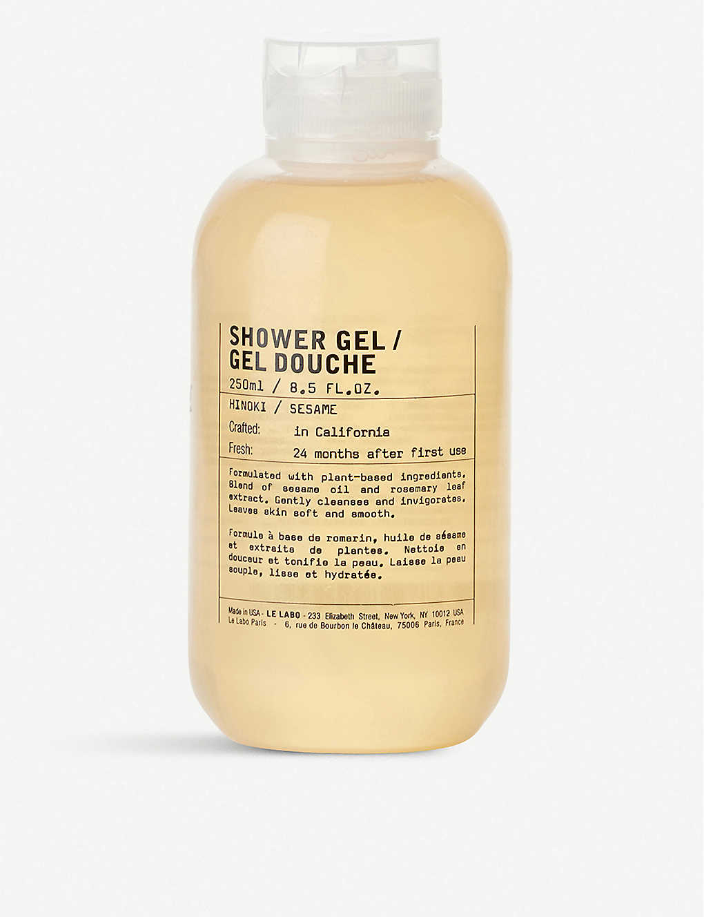 Le Labo Hinoki Shower Gel 250ml Selfridges Com