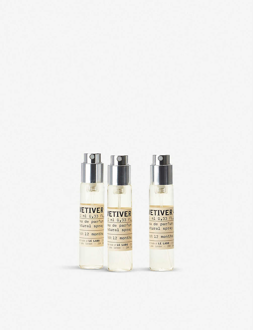 LE LABO: Vetiver 46 Eau de Parfum Travel Tube Refills 3x10ml