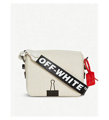 6b6567552a VICTORIA BECKHAM DENIM Off-White x Byredo logo-print canvas cross-body bag
