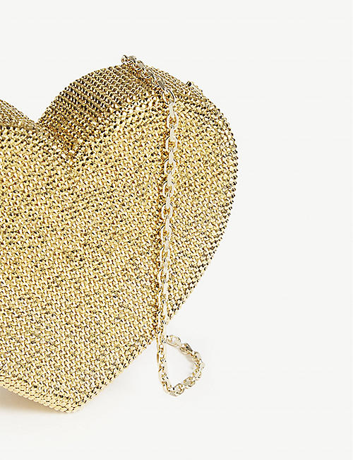 JUDITH LEIBER Exclusive Judith Leiber crystal heart clutch