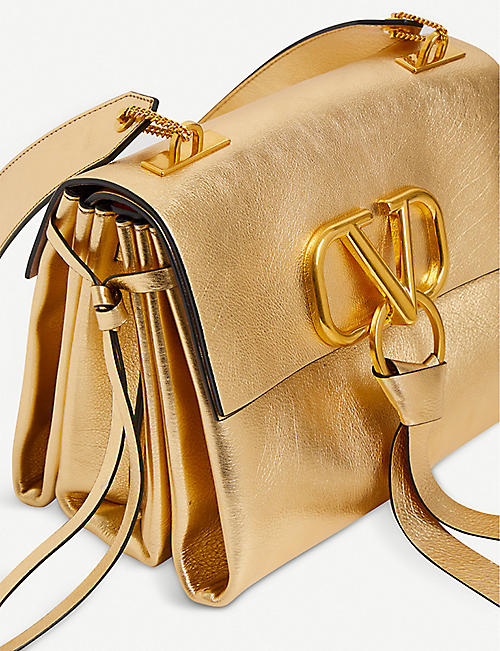 VALENTINO Exclusive Valentino grained leather shoulder bag