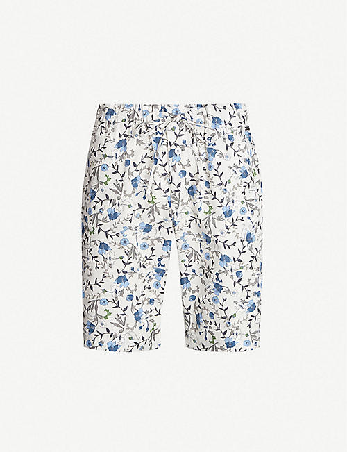 030be61f6 HANRO Floral cotton-jersey shorts