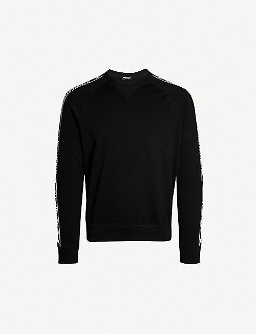 520760e05d6c22 DSQUARED2 Logo-tape cotton-jersey sweatshirt