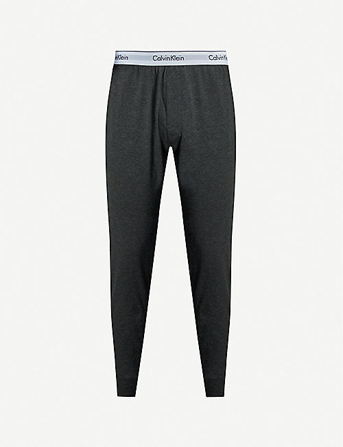 CALVIN KLEIN Log-detail cotton-jersey jogging bottoms