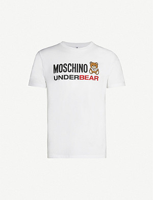 MOSCHINO Logo-print stretch-cotton T-shirt